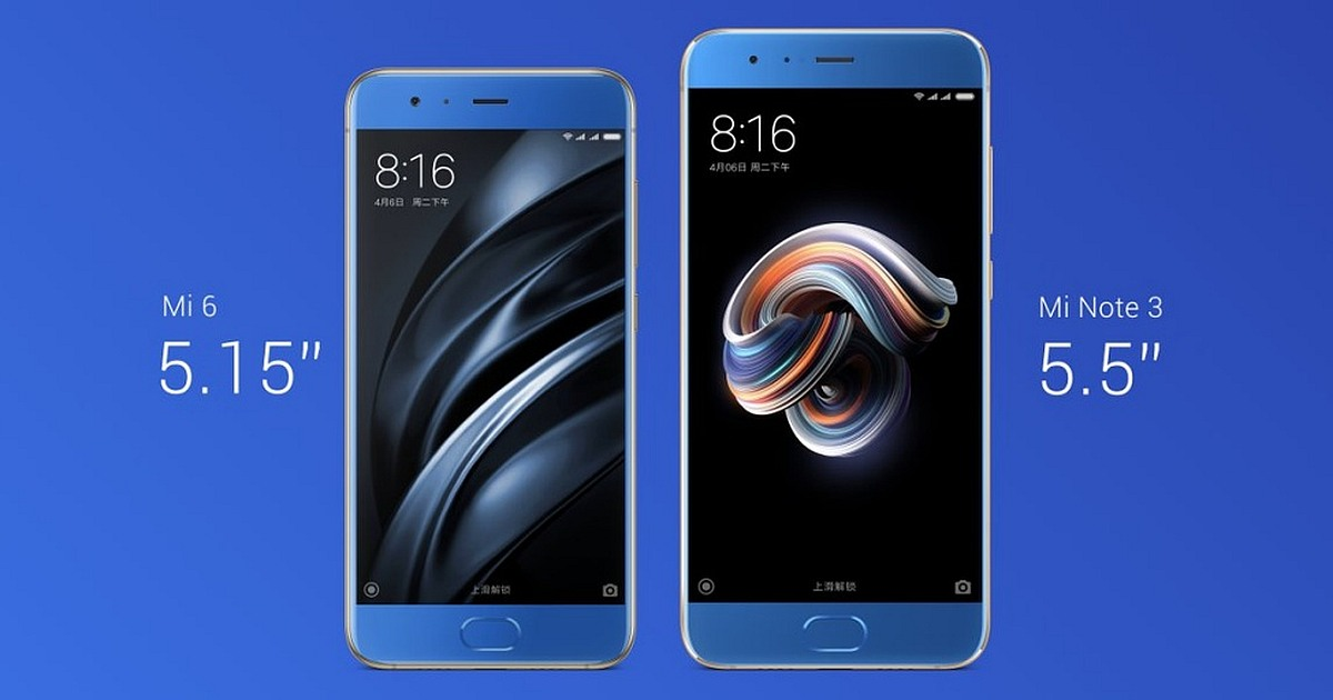 Xiaomi Mi Note 3 with 5.5 inches and 3500 mAh